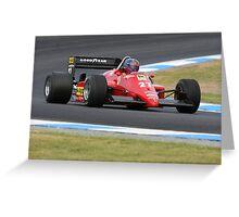 Ferrari F1 Greeting Card