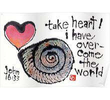 Take Heart (Sea Shell) Poster