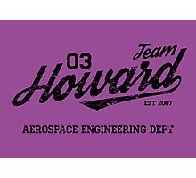 Team Howard Photographic Print