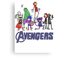 The Cute Avengers Canvas Print