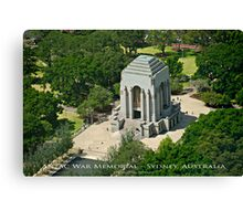 Anzac War Memorial - Sydney, Australia (Photo Finish) Canvas Print