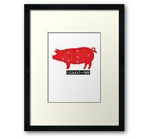 Pork is food Framed Print