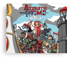 Azeroth time - The Horde Canvas Print
