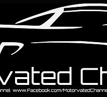 Motorvated Channel logo with URLs in BLACK by John Billing