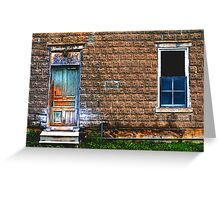 early 1900's building in Ontario Greeting Card