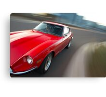 Red Datsun 260Z rig shot Canvas Print