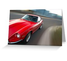Red Datsun 260Z rig shot Greeting Card