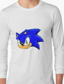 Sonic the Hedgehog. The Iconic Head Long Sleeve T-Shirt