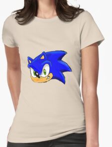 Sonic the Hedgehog. The Iconic Head Womens Fitted T-Shirt