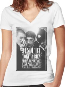 La Haine  Women's Fitted V-Neck T-Shirt
