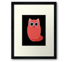 CAT RED ONE Framed Print