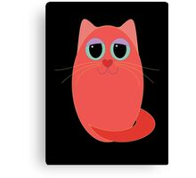 CAT RED ONE Canvas Print