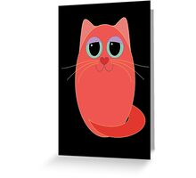 CAT RED ONE Greeting Card