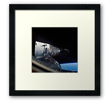 Gemini 7 spacecraft as seen from Gemini 6 in orbit around the earth - Historic Photo Framed Print