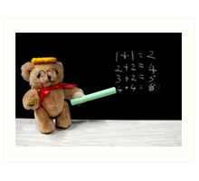 Teacher Ted Finally gets his Sums Right Art Print