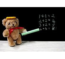 Teacher Ted Finally gets his Sums Right Photographic Print