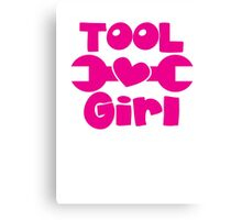 Tool Girl! with spanner  Canvas Print