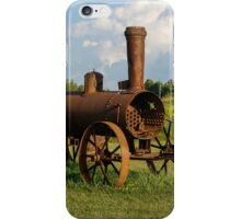 Antique And Rusty - a Vintage Iron Tractor on a Farm iPhone Case/Skin