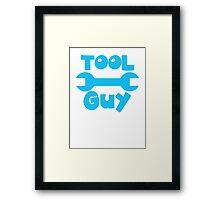 TOOL Guy with spanner design Framed Print