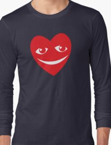LOVE HEART SMILING and happy! Long Sleeve T-Shirt