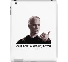 Spike, out for a walk - dark font (TSHIRT) iPad Case/Skin