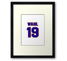 National baseball player Kermit Wahl jersey 19 Framed Print