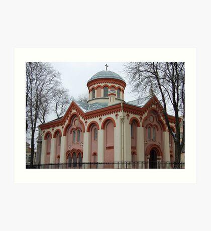 Church in Vilnius Art Print