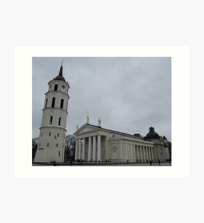 Cathedral in Vilnius Art Print