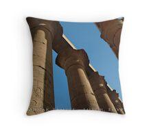 Karnak Temple - Luxor, Egypt (Textured Canvas Finish) Throw Pillow