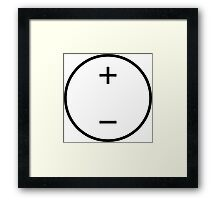 Voltage Source Framed Print