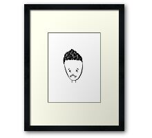 Spikes drawing of Angel - (TSHIRT) Framed Print