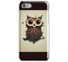An owl from coffee bean iPhone Case/Skin