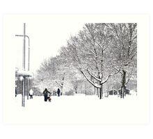 Winter B&W Art Print