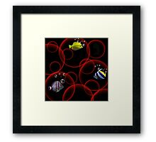 <º))))>< FISH WITH A BUBBLY POINT OF VIEW    <º))))><      Framed Print