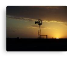 Skellytown Windmill at Sunset Canvas Print