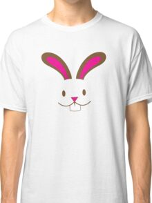 Simple and cute Easter bunny rabbit face smiling Classic T-Shirt