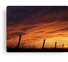 Unexpected Crimson Sunset Canvas Print
