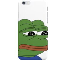 SAD FROG PEPE iPhone Case/Skin