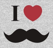 I Love Mustache by YogiStore