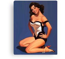 Vintage Pin up Girl - 1950 Canvas Print