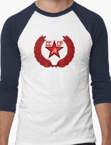 Russian Soviet Red CCCP (Clean) Men's Baseball ¾ T-Shirt