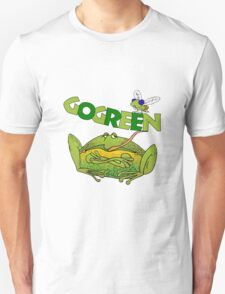 Funny Ecology Go Green Frog T-Shirt