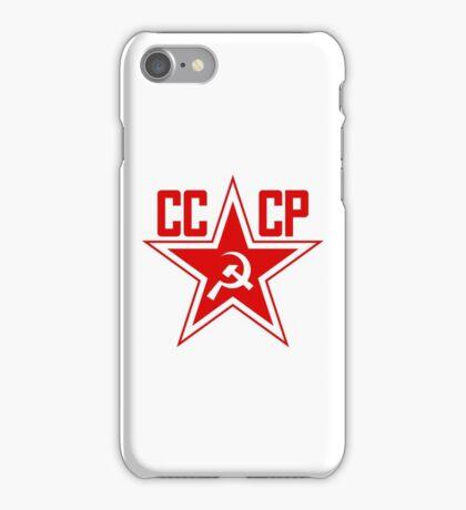 Russian Soviet Red Star CCCP (Clean) iPhone Case/Skin