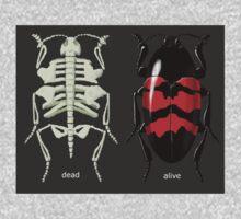 endoskeletal beetle, dead/alive One Piece - Short Sleeve