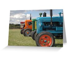 Tractors Greeting Card