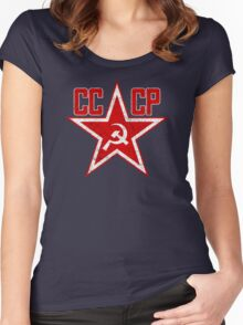 Russian Soviet Red Star CCCP Women's Fitted Scoop T-Shirt