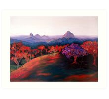Glasshouse Mountains. Art Print