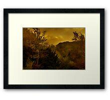 Sunset On Watlington Hill Framed Print