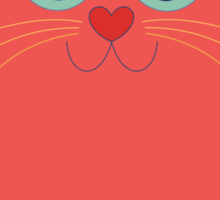CAT RED ONE Sticker