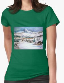 snow scene Womens Fitted T-Shirt